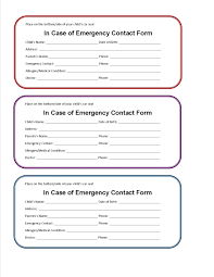 Template Parent Contact Information Template Family Children Pa