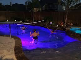 inground pools at night. Custom Volleyball System Inground Pools At Night E