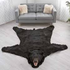 6 foot 1 inch 184cm black bear rug ru1802175