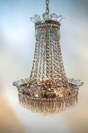 chandeliers 1930s french crystal beaded chandelier 1930s spanish empire style crystal chandelier 1930 french crystal