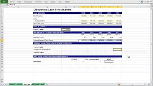 Dicounted Cashflow A Basic Discounted Cash Flow Model Youtube