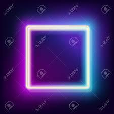 Light Neon Blue Neon Square Neon Blue Light