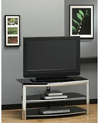 monarch specialties tv stand. Monarch Specialties Chrome Metal/Black Tempered Glass TV Stand Tv
