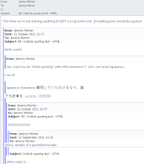 Email Breaking The Outlook 40 Email Blue Quote Line For Inline Adorable Html Quote