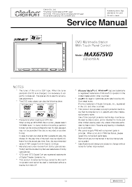 clarion max675vd sm service manual schematics clarion max675vd sm service manual 1st page