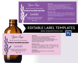 Package Label Template Cool Lavender Label Template Product Label Skin Care Label Etsy