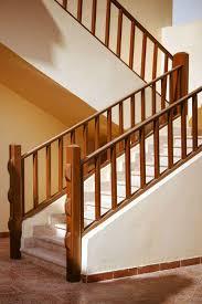 Modern Wooden Stairs Railing Design