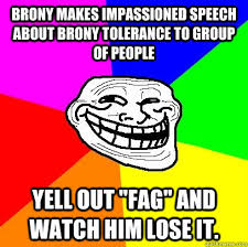 Brony makes impassioned speech about brony tolerance to group of ... via Relatably.com