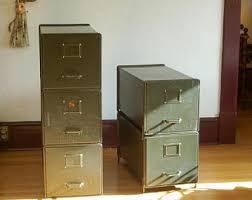 Vintage green filing cabinet | Etsy