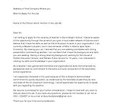Stunning Cover Letter For Teacher Photos Hd Goofyrooster