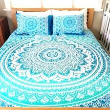 bohemian sheet set bed sheets bohemian bed cover mandala printing bed sheet with pillow case home