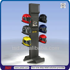 Motorcycle Helmet Display Stand Tsdm100 Custom Retail Store Floor Helmet Display Fixture With Lcd 2