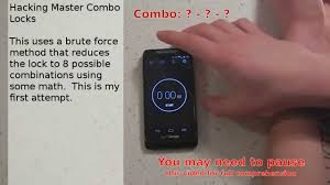 Crack A Master Combination Lock Flow Chart Crack Any Master Combination Lock In 8 Tries Or Less Using