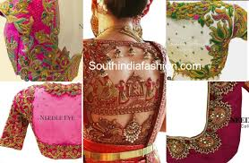 Full Embroidery Blouse Designs Embroidery Blouse Designs For Wedding Silk Sarees By Needle Eye