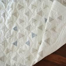 Minimal Triangles Quilt Pattern (Download) - Suzy Quilts & Neutral-triangle-quilt-pattern Adamdwight.com
