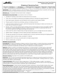 Amusing Receiving Clerk Resume Example for 100 [ Free Resume Samples  Shipping Clerk ]