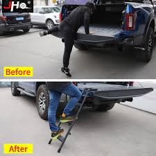 JHO Truck Tailgate Step Ladder For 2015-2018 Ford F150 Raptor 2016 ...