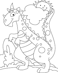 coloring page of dinosaur cute dinosaur coloring pages
