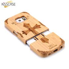 KISSCASE Natural <b>Wooden Phone</b> Case For Samsung S6 edge ...