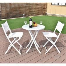 3 pcs bistro set garden backyard table