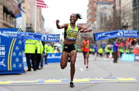 caroline rotich of kenya wins the boston marathon on april 20th