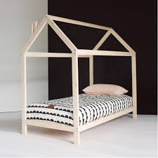 kids bed. Wooden House Kids Bed