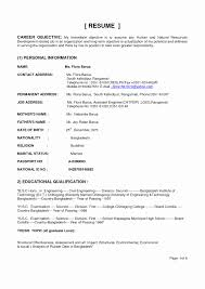 Technical Resume Objective Examples Example Of A Resume New Resume Objective Examples Engineering 6