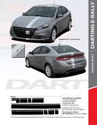 Dart E Rally 2013 2016 Dodge Dart Bumper To Bumper Euro Rally Racing Stripes Kit