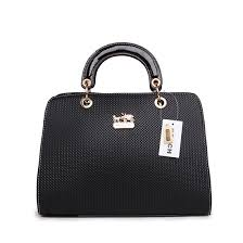 Coach Fashion Signature Medium Black Satchels BSG