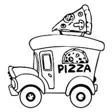 cheese pizza coloring page. Modren Page Pizza Coloring Pages  Truck Inside Cheese Page O