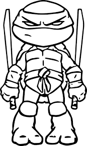 Ninja Turtles Art Coloring Page Tmnt