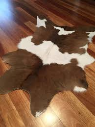 brown and white calfskin rug brown cowhide rug small cow skins calf hide