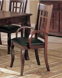 dining arm chairs black. Exellent Chairs Set Of 2 Dining Arm Chairs Black Leather Like Rich Cherry Finish Inside I