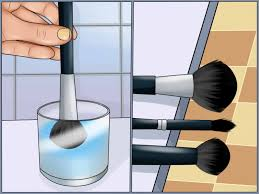 how to clean makeup brushes using olive oil and soap