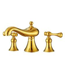brass bathroom faucets 3 hole filtering widespread polished brass bathtub