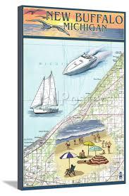 Boat Chart New Buffalo Michigan Nautical Chart