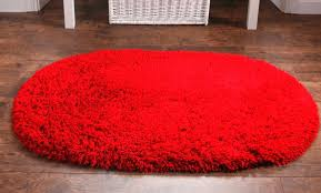 red oval bath rug with stylish laminate floor for impressive bathroom plan rugs small