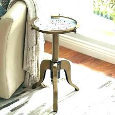 pier one table pier one table c 1 accent clock bronze tables mirrored golden erfly coffee