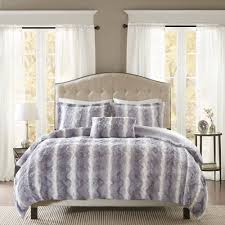 the madison park mlle oversized duvet cover features a luxuriously soft faux fur and reverses to
