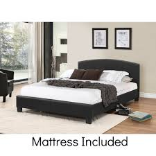 bed frame with mattress included.  With Gary Double Size Bed With Mattress Throughout Frame Included M