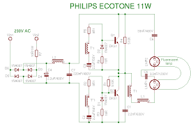 compact fluorescent lamp CFL Circuit Diagram schema philips 11w