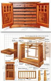 wood furniture blueprints. Wine Cabinet Plans - Furniture And Projects   WoodArchivist.com Wood Blueprints L