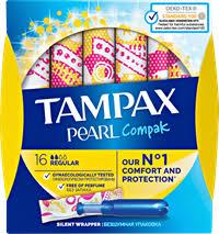 <b>Тампоны TAMPAX Compak Pearl</b> Regular гигиен. – купить в сети ...