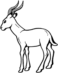 Small Picture Gazelle 2 coloring page Free Printable Coloring Pages