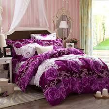 flowers purple king size comforter sets