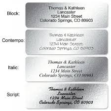 silver address label silver foil rolled address labels current catalog