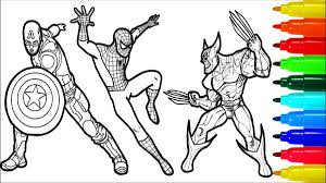 Spiderman coloring book coloring pages kids fun art activities video for kids bun sophat. Wolverine Coloring Pages Printable Coloring And Drawing
