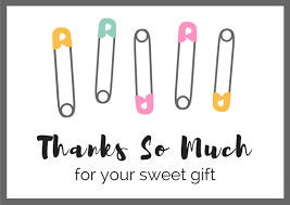 Baby Gift Thank You Note Baby Shower Thank You Notes Free Wording Examples