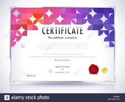 Certificate Template Diploma Template Abstract Background Vector