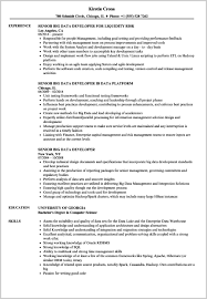 Hadoop Developer Resume 35330 Senior Big Data Developer Resume